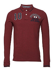 CLASSIC SUPERSTATE L/S POLO - RED FERN GRIT