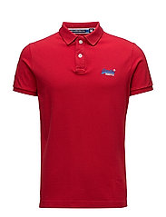 CLASSIC S/S PIQUE POLO - ACE RED