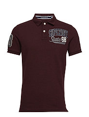 CLASSIC SUPERSTATE S/S POLO - BOSTON BURGUNDY GRIT