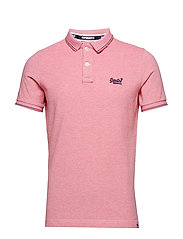 CLASSIC POOLSIDE PIQUE POLO - CORAL/WHITE