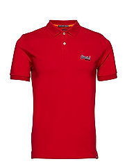 MERCERISED LITE CITY POLO - RICH RED