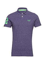 CLASSIC PIQUE POLO - WINTER PURPLE GRIT
