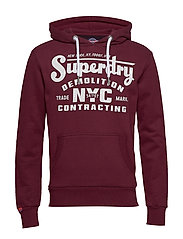 DEMOLITION CREW HOOD - BUCK BURGUNDY MARL