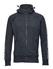 SUPERDRY STADIUM ZIPHOOD - SUPERDRY STADIUM NAVY GRIT