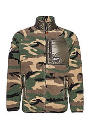 MOUNTAIN SHERPA CAMO TRACK TOP - CAMO/COOL OLIVE
