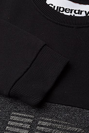 Superdry - JAPAN CITY BREAKERS CREW - svetarit - black/black grit - 2