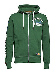 TRACK & FIELD ZIPHOOD - BRIGHT MIDWEST GREEN GRIT