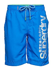 SUPERDRY BOARDSHORT - DECK BLUE/BRIGHT GREEN