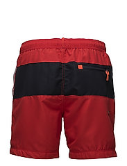 WATERPOLO BANNER SWIM SHORT - YACHT CLUB RED/DARKEST NAVY