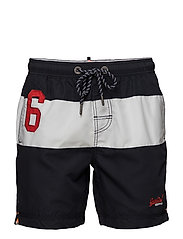 WATERPOLO BANNER SWIM SHORT - DARKEST NAVY/OPTIC