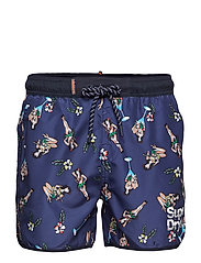 ECHO RACER SWIM SHORT - NAVY HULA GIRLS AOP