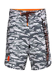 SUPERDRY DEEP WATER BOARDSHORT - ICE GREY CAMO