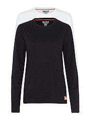 LAUNDRY SLIM FIT LS TEE DOUBLE PACK - LAUNDRY BLACK/LAUNDRY WHITE