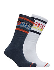 STRIPED CALI SOCK DOUBLE PACK