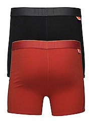 TIPPED SPORT BOXER DOUBLE PACK - SUNSET ORANGE/BLACK