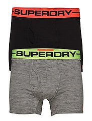 SPORT BOXER DOUBLE PACK - GRAVEL GREY GRIT/BLACK