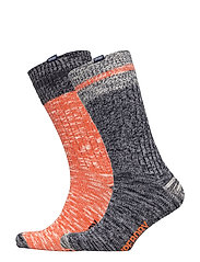 BIG SDRY MNTNR SCK DOUBLE PACK - CHARCOAL MIX/ORANGE MIX