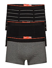 O.L SPORT TRUNK TRIPLE PACK - BLACK/BLACK GRINDLE/BLACK GRINDLE