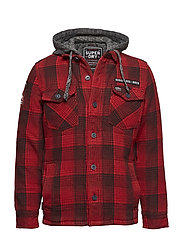 EVEREST STORM HOOD - RIGGER RED CHECK