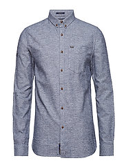 ACADEMY OXFORD SHIRT - MONSOON NAVY GRIT
