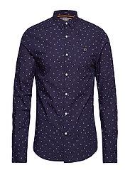 POOLSIDE SLIM L/S SHIRT - PRISM PRINT NAVY