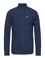 SHOREDITCH BUTTN DWN L/S SHIRT - GRINDLE MIDNIGHT DOT