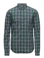 ULTIMATE UNIVRSTY OXFORD SHIRT - BUCK GREEN CHECK