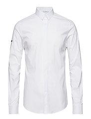 COTTON DRESS L/S SHIRT - OPTIC