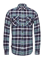 MERCHANT MILLED SHIRT - AIR BORN NAVY CHECK