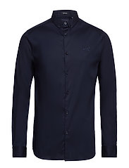 TAILORED SLIM FIT L/S SHIRT - MIDNIGHT