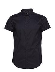 PREMIUM COTTON DRESS S/S SHIRT - BLACK