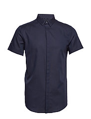 PREMIUM COTTON DRESS S/S SHIRT - OIL BLUE