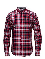 RAW OXFORD L/S WASHBASKET - BOTLEY RED CHECK