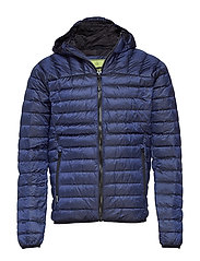 CORE DOWN HOODED JACKET - NAVY