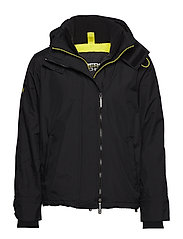 ARCTIC HOOD POPZIP WINDCHEATER - BLACK/ACID LIME