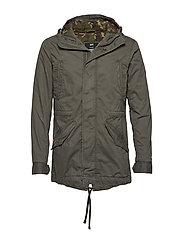 NEW ROOKIE MILITARY PARKA - DARK FOREST GREEN