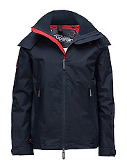 HOODED TECHNICAL CLIFF HIKER - ECLIPSE NAVY/HYPER RED