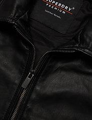Superdry - LIGHTWEIGHT LEATHER CURTIS - lederjacken - black - 2