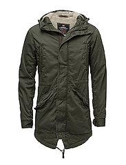 NEW MILITARY PARKA - FOREST NIGHT