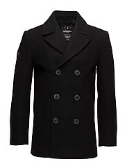 ROOKIE MERCHANT LINE PEACOAT - BLACK