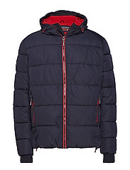 SPORTS PUFFER - NAVY/BRIGHT RED