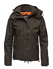 POP ZIP HOOD ARCTIC WINDCHETER - ARMY/ORANGE
