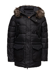 LONGLINE DOWN CHINOOK PARKA - BLACK