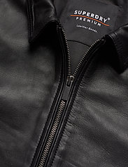 Superdry - CURTIS LIGHT LEATHER JACKET - nahkatakit - black - 3