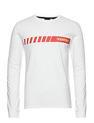 Core Logo Sport Stripe Top - OPTIC