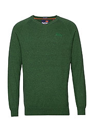 ORANGE LABEL COTTON VEE - BRIGHT MIDWEST GREEN GRIT