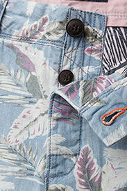 Superdry - NUE WAVE WASH SHORT - rennot - paradise chambray hibiscus - 3