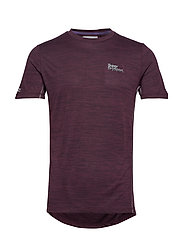 ACTIVE TRAINING S/S TEE - FIG MARL SPACE DYE
