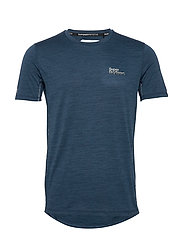 ACTIVE TRAINING S/S TEE - TEAL MARL SPACE DYE