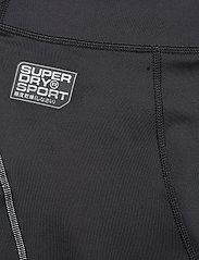 Superdry - PERFORMANCE FLOCK COMPRESSION LEGGING - spodnie treningowe - black - 4
